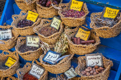 Herbs and spices on market,Tunis Royalty Free Stock Image