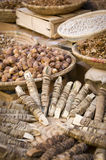 Herbs and spices at Moroccan market Royalty Free Stock Photos