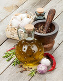 Herbs, spices and seasoning Stock Photos