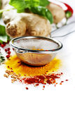 Herbs and spices selection Royalty Free Stock Photography