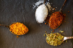 Herbs and spices selection, close up Stock Photography