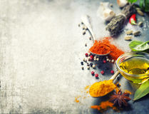 Herbs and spices selection Stock Photos