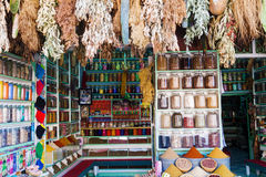 Herbs and spices souks of Marrakesh Stock Image