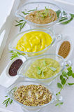 Herbs and Spices. Variety of Mustards. Stock Photography