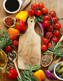 Herbs and spices, vegetables and sauces Stock Image