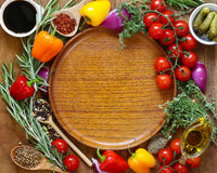 Herbs and spices, vegetables and sauces Royalty Free Stock Images