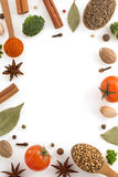Herbs and spices on white Royalty Free Stock Photo