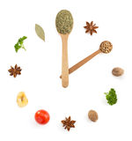 Herbs and spices on white Royalty Free Stock Images