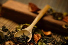 Herbs and spoon Royalty Free Stock Images