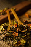 Herbs and spoon Royalty Free Stock Photography