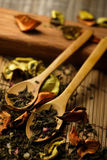 Herbs and spoon Royalty Free Stock Photos