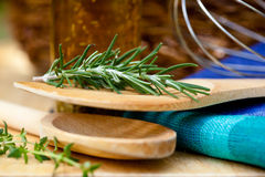 Herbs and Utensils � Cooking Royalty Free Stock Photos