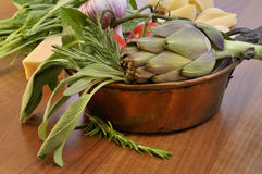 Herbs and Vegetables Stock Images