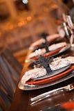 Herbst-Abendessen-Platten Stockfoto