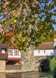 Herbst-alte Stadt des Nürnberg-Deutschland-Anfanges Lizenzfreies Stockbild