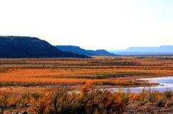 Herbst auf dem Canadian River stockfoto