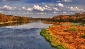 Herbst auf dem Kankakee Fluss Stockbild
