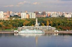 Herbst auf dem Moskau-Fluss Stockbild