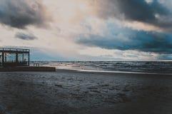Herbst auf dem Ufer der Ostsee Stockfotos
