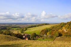 Herbst auf den Yorkshire-Wolds Lizenzfreie Stockfotos