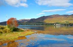 Herbst auf Loch Duich, Schottland Lizenzfreies Stockbild
