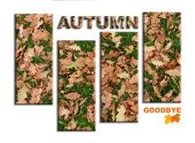 Herbst Auf Wiedersehen, themenorientiertes Plakat des Plakats stock abbildung