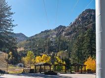 Herbst bei Squaw Valley, Kalifornien stockfotografie