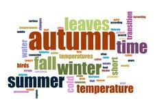 Herbst Collage der Wörter Vektorillustration Lizenzfreie Abbildung