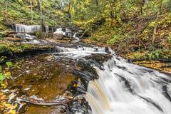 Herbst an Delaware-Fällen - Ricketts-Schlucht, Pennsylvania Lizenzfreies Stockbild