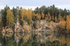 Herbst in den Bergen Teplice Stockbild