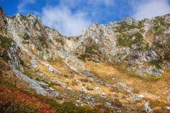 Herbst in den zentralen Alpen, Japan Lizenzfreies Stockfoto