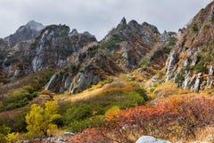 Herbst in den zentralen Alpen, Japan Lizenzfreie Stockfotografie