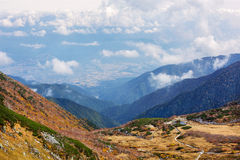 Herbst in den zentralen Alpen, Japan Lizenzfreie Stockfotos