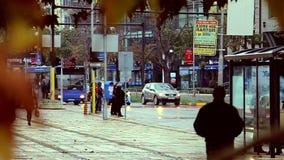 Herbst in der Stadt stock video footage