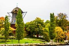 Herbst in Djurgarden, Stockholm, Schweden Lizenzfreies Stockfoto