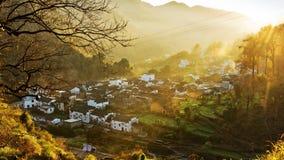 Herbst-Dorf stockfoto
