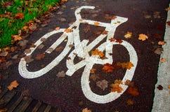 Herbst durch Fahrrad lizenzfreie stockfotografie