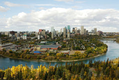 Herbst Edmonton lizenzfreies stockfoto
