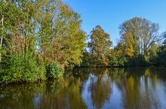 Herbst in einem Park in Amsterdam Lizenzfreie Stockbilder