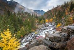 Herbst am Eiszapfen in Leavenworth Stockfotografie