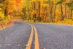 Herbst entlang blauen Ridge Parkway stockbilder