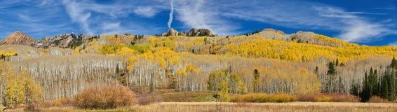 Herbst entlang Kebler Durchlauf stockbild