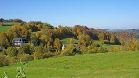 Herbst in Erzgebirge, Deutschland Lizenzfreies Stockfoto