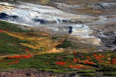 Herbst färbt Kessel Stockfotos