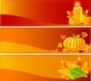 Herbst-Fahnen stock abbildung