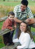 Herbst-Familien-Portrait stockbilder