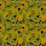 Herbst-Farben-Blätter auf schwarzem Backgr Lizenzfreies Stockbild