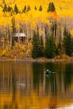 Herbst-Fliegen-Fischen Stockfoto