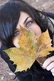 Herbst-Frau Lizenzfreies Stockfoto