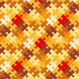 Herbst färbt Puzzlespielhintergrund Stockfoto